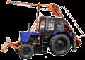 Бурильно-крановая машина (оборудование навесное для изготовления отверстий и установки ЛЭП)марки БКМ-2МТ на базе трактора МТЗ-82