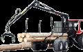 Напівпричіп лісовозний DL-10 з гідроманіпулятором Palms