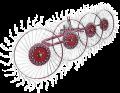 Граблі колісно-пальцеві «Сонечко»
