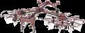 Граблі двороторні причіпні Kolibri Duo