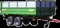 Тракторний самоскидний причіп ТСП-10Т з трьохстороннім розвантаженням вантажопідйомність 8 т , об'єм 5-16,5 м³