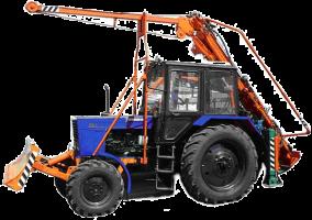 Бурильно-кранова машина (обладнання навісне для виготовлення отворів і установки ЛЕП) марки БКМ-2МТ на базі трактора МТЗ-82