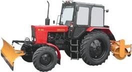 Трактор МТЗ-82.1 з навісним обладнанням (відвал+щітка)